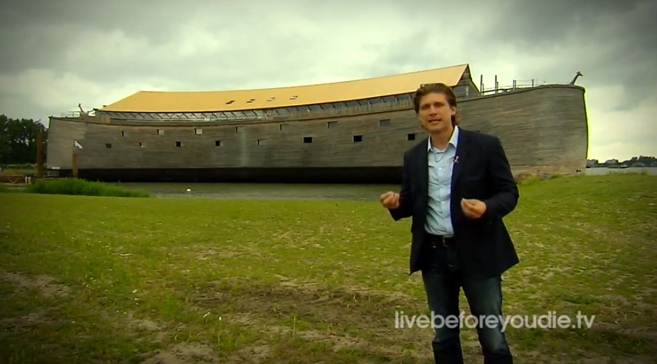 "Standing in front of ""The Ark of Noah"" in the Netherlands - a real life, scale-modle functional replica of Noah's Ark"